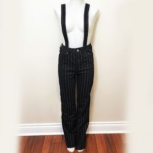 Forever 21 Pin Stripe Pant With Suspenders